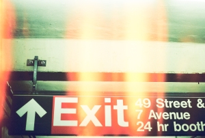 Exit on Subway Canon AE-1